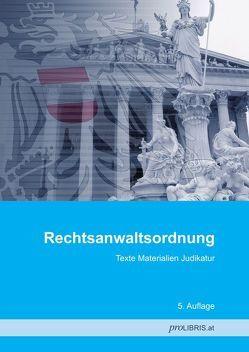 Rechtsanwaltsordnung von proLIBRIS VerlagsgesmbH