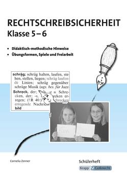 Rechtschreibsicherheit Klasse 5 und 6 von Sonntag,  Nina, Zenner,  Cornelia