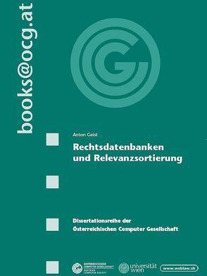 Rechtsdatenbanken und Relevanzsortierung von Geist,  Anton