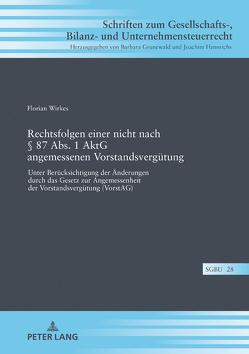 Rechtsfolgen einer nicht nach § 87 Abs. 1 AktG angemessenen Vorstandsvergütung von Wirkes,  Florian