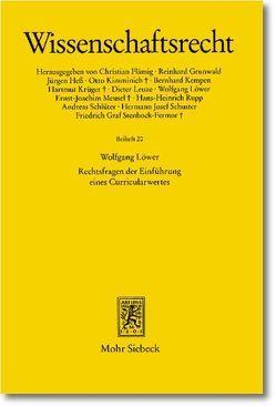 Rechtsfragen der Einführung eines Curricularwertes von Löwer,  Wolfgang