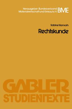 Rechtskunde von Klamroth,  Sabine