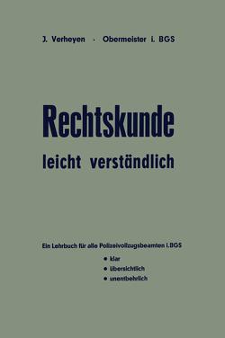 Rechtskunde — leicht verständlich von Verheyen,  Josef