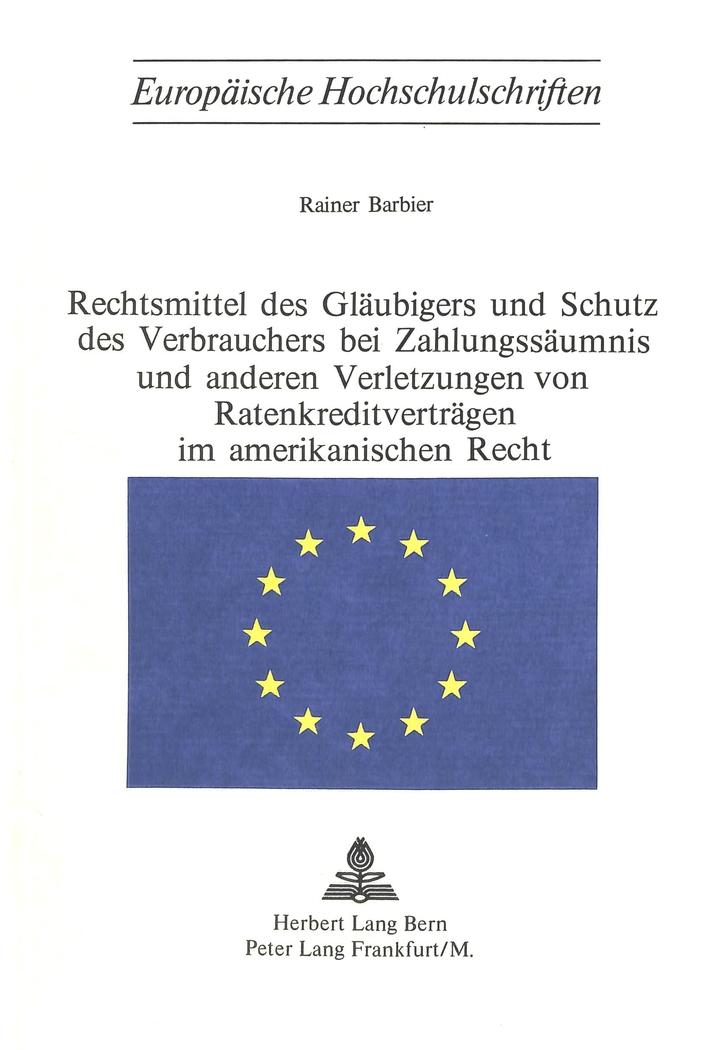 Rechtsmittel des Gläubigers und Schutz des Verbrauchers bei ...