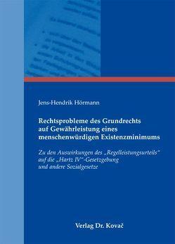 Rechtsprobleme des Grundrechts auf Gewährleistung eines menschenwürdigen Existenzminimums von Hörmann,  Jens-Hendrik