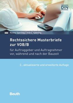 Rechtssichere Musterbriefe zur VOB/B von Sperling,  Axel C., Sperling,  Rosina