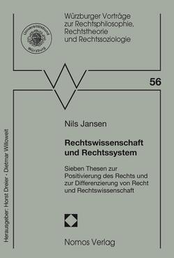 Rechtswissenschaft und Rechtssystem von Jansen,  Nils