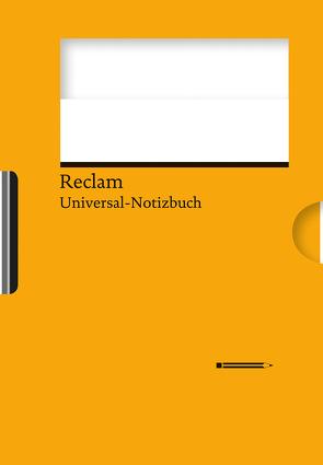 Reclams Universal-Notizbuch (orange) von Blum,  Wolfgang