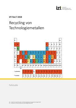 Recycling von Technologiemetallen von Behrendt,  Siegfried