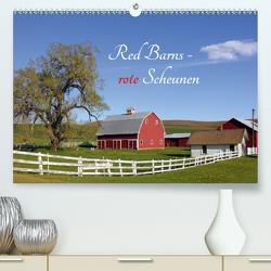 Red Barns – rote Scheunen (Premium, hochwertiger DIN A2 Wandkalender 2020, Kunstdruck in Hochglanz) von Grosskopf,  Rainer
