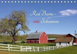 Red Barns – rote Scheunen (Tischkalender 2019 DIN A5 quer) von Grosskopf,  Rainer