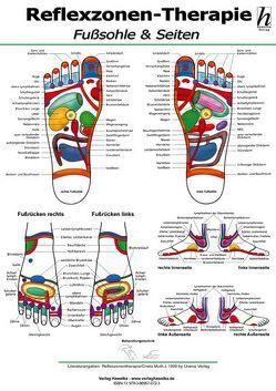 Reflexzonen-Therapie Poster – Fußsohle & Seiten DIN A2 von Hawelka Verlag,  Hawelka