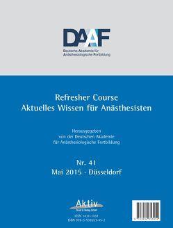Refresher Course Nr. 41/2015 von Deutsche Akademie f. Anästhesiologische Fortbildung