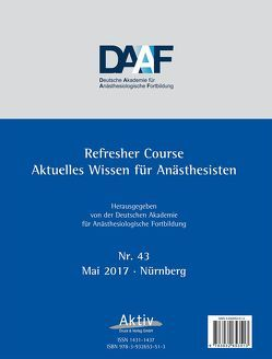 Refresher Course Nr. 43/2017