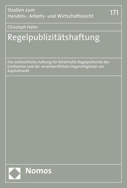 Regelpublizitätshaftung von Hahn,  Christoph