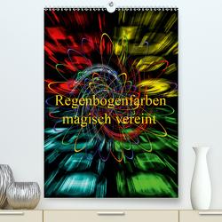 Regenbogenfarben magisch vereint (Premium, hochwertiger DIN A2 Wandkalender 2021, Kunstdruck in Hochglanz) von Zettl,  Walter