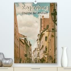 Regensburg – Charme der Altstadt (Premium, hochwertiger DIN A2 Wandkalender 2021, Kunstdruck in Hochglanz) von Teßen,  Sonja