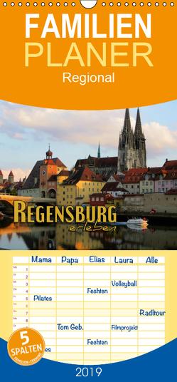 Regensburg erleben – Familienplaner hoch (Wandkalender 2019 , 21 cm x 45 cm, hoch) von Bleicher,  Renate
