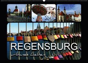 REGENSBURG – urbanes Leben (Wandkalender 2018 DIN A2 quer) von Bleicher,  Renate