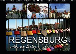 REGENSBURG – urbanes Leben (Wandkalender 2019 DIN A2 quer) von Bleicher,  Renate