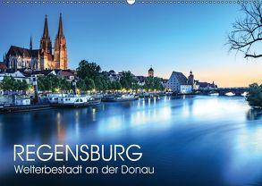 Regensburg – Welterbestadt an der Donau (Wandkalender 2018 DIN A2 quer) von Thoermer,  Val