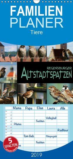Regensburger Altstadtspatzen – Familienplaner hoch (Wandkalender 2019 , 21 cm x 45 cm, hoch) von Bleicher,  Renate