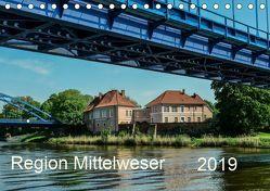 Region Mittelweser (Tischkalender 2019 DIN A5 quer) von Wösten,  Heinz