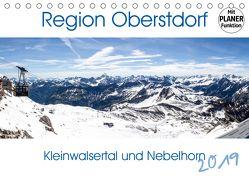 Region Oberstdorf – Kleinwalsertal und Nebelhorn (Tischkalender 2019 DIN A5 quer) von Eisele,  Horst