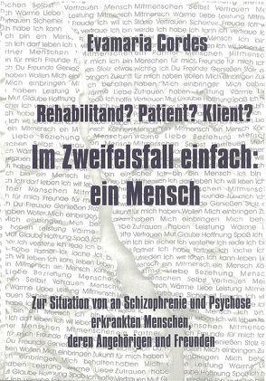Rehabilitand? Patient? Klient? von Cordes,  Evamaria, Poustka,  Fritz, Zander,  Wolfgang