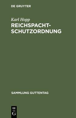 Reichspachtschutzordnung von Hopp,  Karl