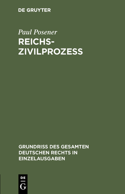 Reichszivilprozeß von Posener,  Paul