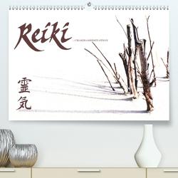 REIKI – Chakrameditation (Premium, hochwertiger DIN A2 Wandkalender 2021, Kunstdruck in Hochglanz) von Weiss,  Michael