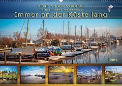 Reise an die Nordsee – Weltnaturerbe Wattenmeer, immer an der Küste lang (Wandkalender 2019 DIN A2 quer) von Roder,  Peter