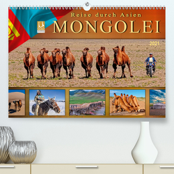 Reise durch Asien – Mongolei (Premium, hochwertiger DIN A2 Wandkalender 2021, Kunstdruck in Hochglanz) von Roder,  Peter