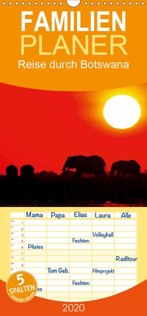 Reise durch Botswana – Familienplaner hoch (Wandkalender 2020 , 21 cm x 45 cm, hoch) von Woyke,  Wibke