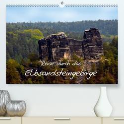 Reise durch das Elbsandsteingebirge (Premium, hochwertiger DIN A2 Wandkalender 2021, Kunstdruck in Hochglanz) von Rix,  Veronika