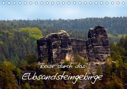 Reise durch das Elbsandsteingebirge (Tischkalender 2021 DIN A5 quer) von Rix,  Veronika