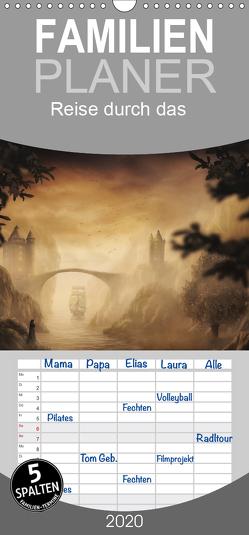 Reise durch das vergessene Land – Familienplaner hoch (Wandkalender 2020 , 21 cm x 45 cm, hoch) von Wunderlich,  Simone