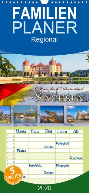 Reise durch Deutschland – Sachsen – Familienplaner hoch (Wandkalender 2020 , 21 cm x 45 cm, hoch) von Roder,  Peter