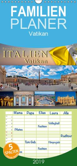 Reise durch Italien Vatikan – Familienplaner hoch (Wandkalender 2019 , 21 cm x 45 cm, hoch) von Roder,  Peter