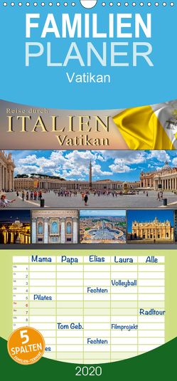 Reise durch Italien Vatikan – Familienplaner hoch (Wandkalender 2020 , 21 cm x 45 cm, hoch) von Roder,  Peter