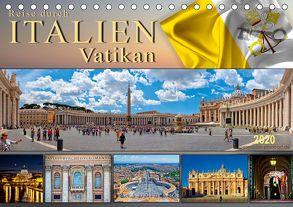 Reise durch Italien Vatikan (Tischkalender 2020 DIN A5 quer) von Roder,  Peter