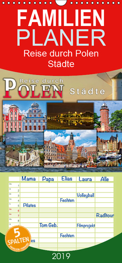 Reise durch Polen – Städte – Familienplaner hoch (Wandkalender 2019 , 21 cm x 45 cm, hoch) von Roder,  Peter
