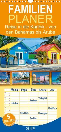 Reise in die Karibik – von den Bahamas bis Aruba – Familienplaner hoch (Wandkalender 2019 , 21 cm x 45 cm, hoch) von Roder,  Peter