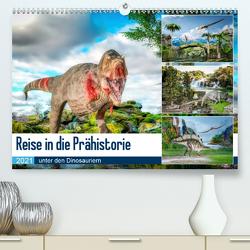 Reise in die Prähistorie – unter den Dinosauriern (Premium, hochwertiger DIN A2 Wandkalender 2021, Kunstdruck in Hochglanz) von Gaymard,  Alain