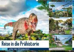 Reise in die Prähistorie – unter den Dinosauriern (Wandkalender 2021 DIN A2 quer) von Gaymard,  Alain