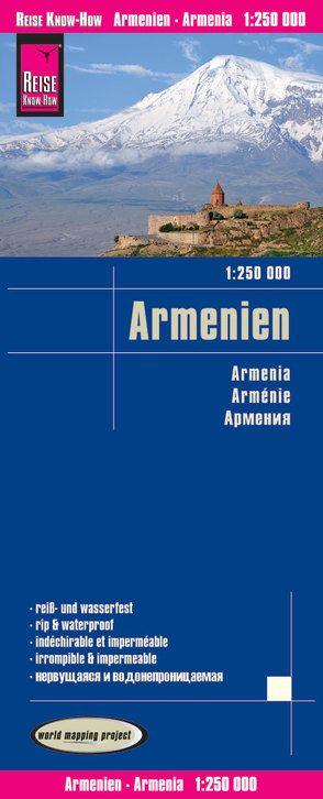 Reise Know-How Landkarte Armenien / Armenia (1:250.000) von Peter Rump,  Reise Know-How Verlag