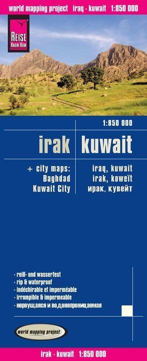 Reise Know-How Landkarte Irak, Kuwait (1:850.000) von Reise Know-How Verlag Peter Rump,  Reise Know-How Verlag