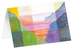 Reise nach innen – Kunst-Faltkarten mit Text (5 Stück) von Felger,  Andreas