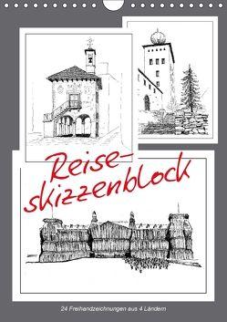Reise-Skizzenblock (Wandkalender 2018 DIN A4 hoch) von J. Richtsteig,  Walter